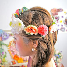 beautiful fake flower tiara hair products in japan