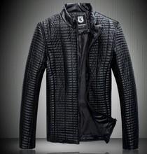 yeni erkek ceket kısa ince yaka motosiklet deri ceket ceket