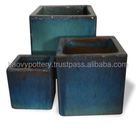 Grande maison de vitrage ext rieur en c ramique pots de for Pot ceramique exterieur