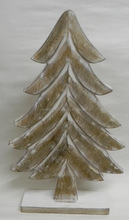 NMW-155 WOODEN CHRISTMAS TREE ON STAND
