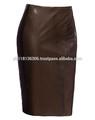 Ropa paquete venta al por mayor el último modelo de la falda sexy falda de cuero negro bangkok falda larga