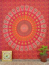 Mandala tapestry,handmade wallhanging,bedcover,beach throw