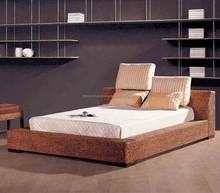 Wicker seagrass rattan water hyacinth bedroom set furniture