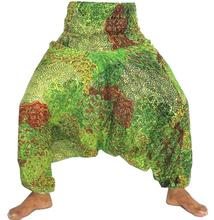 Comercio al por mayor Pescador estilo tailandés Peacock Harem Pant-Boho harén pantalones hippie pavo real-Beach desgaste harén