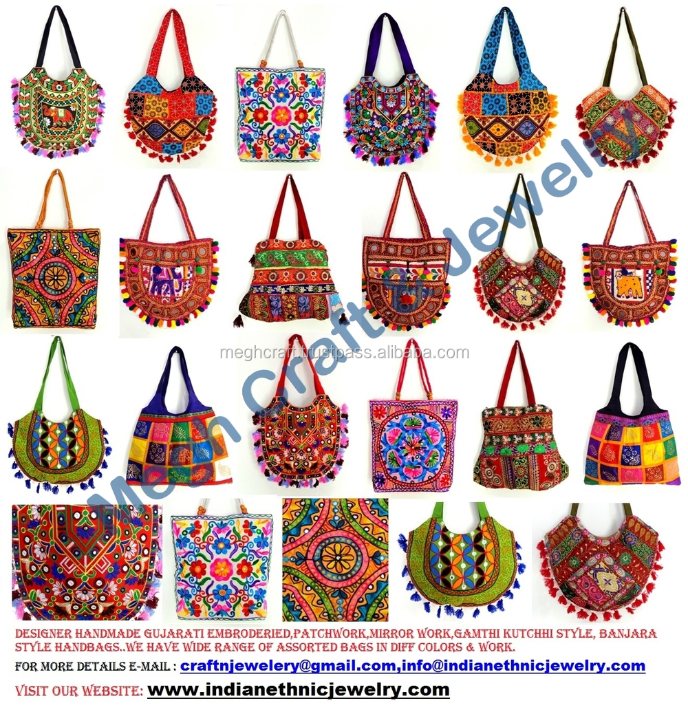 Indian embroidery suzani bag women tote shoulder bag designer boho bag wholesale handmade - Indian home decor online style ...