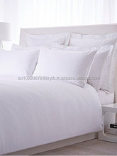 Woven Flat/Fitted Bed Sheet in White/Printed.