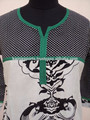 Jaipuri algodón Kurtis desde el fabricante / blanco y negro elegante de algodón túnica Kurtis