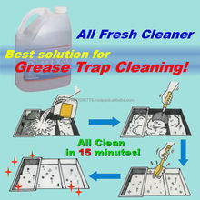 Oil & grease remover for septic tank pump cleaning