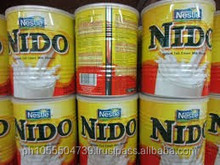 Nido Full Cream Milk Powder in canisters sizes 12.6oz (360gr), 28.10oz (800gr) and 3.52Lbs (1.6kg)