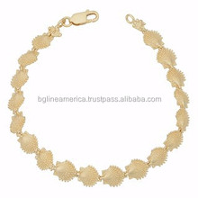 Gold Bracelet Jewelry Design for Women Gold Scallop Shell Bracelet