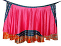 Últimas elegante Seda Patchwork indio Magia longitud de la rodilla falda del abrigo-al por mayor mágica falda del abrigo