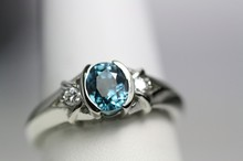 Beauty Jewellery Hot Selling Collection - Faceted 8x6 mm Oval Shaped Blue Zircon With 92.5 Silver Rings at wholesale