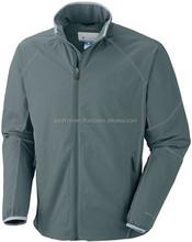 UV protective Antimicrobial polyester mens softshell jacket / safety softshell jacket / waterproof jacket