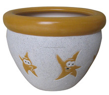 (CD 06-1187) Cup shape Ceramic flower pot with Saucer
