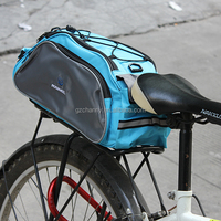 HOT SALE NEW Arrival ROSWHEEL 13L Multi function Cycling Bag Rear Seat Bicycle Carrier Basket Rack Pannier 600D Polyester Blue