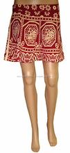 Algodón Minifalda reversible falda envoltura mágica alrededor de la falda - mini faldas al por mayor