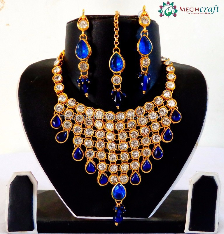 Bollywood Fashion Imitation Sets Indo Western Style Pearl Jewelry Wholesale Imitation Jewelry