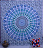 Indian Queen Mandala Hippy throw tapestries Coverlet Cotton Ethnic Tapestry Bedspread Gypsy Boho Decor Indian Bed sheet Art