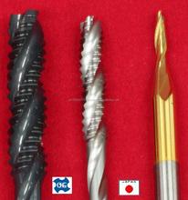 Machining cut screw cap aluminium OSG tool from japanese standard