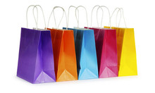 Foldable shopping bag,Paper bag with string, Paper shopping bag
