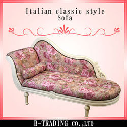 Italian classic style ball and claw feet wooden sofa model at reasonable price