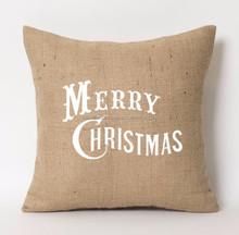 TC 121, LIVEGREEN Jute Cushion Cover for christmas home decor