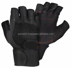 Training Body Building Gym Weight Lifting Sport Fingerless Half Finger Gloves Microfiber Fabric