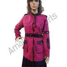 Pink Cotrise Blazer with Belt for women's