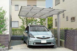 Fashionable and Premium attached carport with multiple functions made in Japan