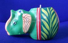 paper mache Mashi elefante candela design x mas decorazione a mano arte e artigianato candela progettista
