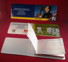 Full Colour Printed Cricket Season Ticket Holder 254mm x 85mm