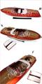 De madera modelo de barco de la velocidad ariston riva listos para rc( barco de la velocidad 4 listos para rc). Nuevo!!