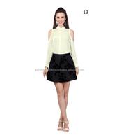 2015 Custom Design New Stylish Fancy Tops For Women