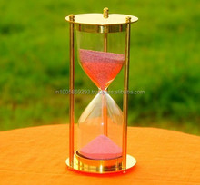 solid glass finish color full sand timer
