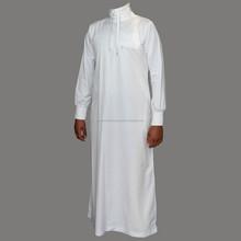New design men arab thobe Islamic white abaya for muslim men