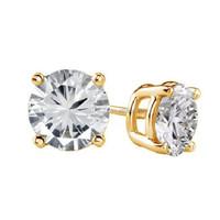 GIA Certified 0.65 Ct tdw Diamond Earrings D-E VS2 18k White Gold