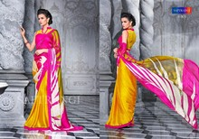 PURE SATIN GEORGETTE WITH EXCLUSIVE DESIGNER PRINT WITH FOIEL PRINT