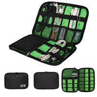 2015 HOT!Digital Storage Bag Drive Cables USB Flash Drives Travel Case Digital Storage Bag Home Accessories Bags Black Color