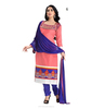 Look Bright & Stylish Pink Chanderi Dress Material