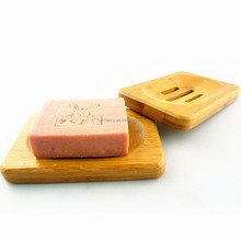 moda popolare trapezoidale naturale legno di bambù bagno portasapone titolare di stoccaggio bagno piatto doccia