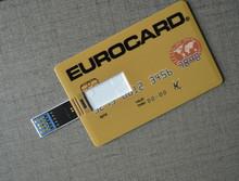 customized logo full color print business card usb flash drive
