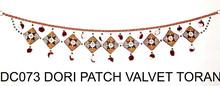 wholesale outdoor decorative items for Diwali- handmade Beaded door hanging -Wholesale indian velvet wall hanging
