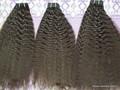templo de pelo indio de donar un solo por los donantes a granel para la trenza