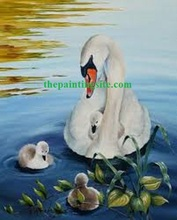 NEW oil painting swans with GOOD price