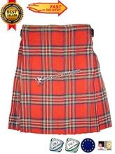 Meilleures ventes royale Stewart Tartan droite plis 4 - 5 metros traditionnelle écossais Kilts 2 boucles
