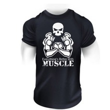 Hot sell 95%polyester 5% spandex mens slim fit gym T shirt