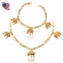 Fashion Animal Jewelry Set Stainless Steel 18K Gold Elephant Jewelry Set