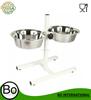 stainless steel raised dog bowl