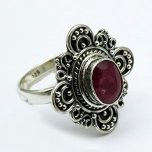 Paradise !! Ruby 925 Sterling Silver Ring, Silver Jewelry, Indian Silver Jewelry supplier