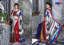PURE SHIMMER CHEX GEORGETTE WITH EXCLUSIVE DESIGNER PRINT